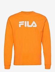 FILA - UNISEX CLASSIC PURE long sleeve shirt - hauts à manches longues - flame orange - 0