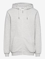 FILA - MEN SASHA hooded jacket - pulls a capuche - light grey melange bros - 0