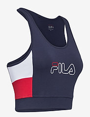 FILA - WOMEN JADEA cropped top - crop tops - black iris-true red-bright white - 3
