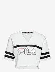 FILA - WOMEN JAINA cropped sporty tee - crop tops - bright white - 0