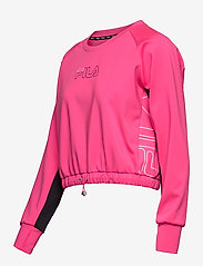 FILA - WOMEN EVELYN cropped shirt - crop tops - candy kiss-black - 2