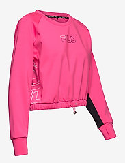 FILA - WOMEN EVELYN cropped shirt - crop tops - candy kiss-black - 3