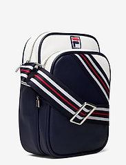 FILA - HERITAGE PUSHER BAG - sacs à bandoulière - black iris-bright white-true red - 2