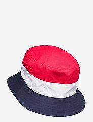 FILA - BLOCKED BUCKET HAT - bøllehatte - black iris-true red-bright white - 1