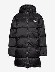 FILA - WOMEN BRONWEN puff hood jacket - wyściełane płaszcze - 002 - black - 1