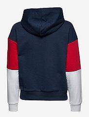FILA - WOMEN BARRET cropped hoody - hoodies - black iris-bright white-true red - 1