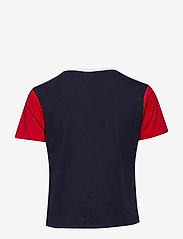 FILA - WOMEN SALOME tee - logo t-shirts - black iris-true red-bright white - 1