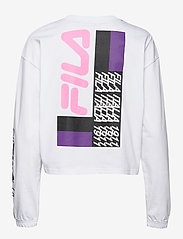 FILA - WOMEN CALANDRA cropped long sleeve shirt - crop tops - bright white - 1