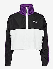 FILA - WOMEN CAGE cropped woven jacket - anoraks - black-bright white tillandsia purple - 1