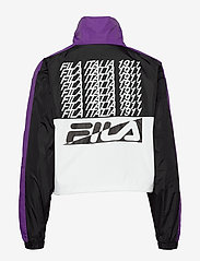 FILA - WOMEN CAGE cropped woven jacket - anoraks - black-bright white tillandsia purple - 2