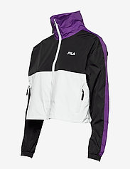 FILA - WOMEN CAGE cropped woven jacket - anoraks - black-bright white tillandsia purple - 3