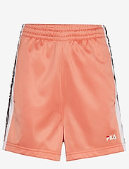 FILA - WOMEN TARIN shorts - high waist - casual shorts - lobster bisque-bright white - 0