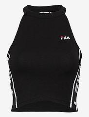 FILA - WOMEN TAMA cropped top - débardeurs - black - 1