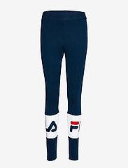 FILA - WOMEN BALLARI leggings - tights & shorts - black iris-bright white - 0