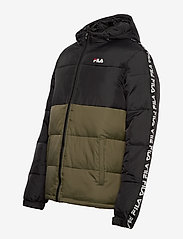 FILA - MEN TANNER tape puffer jacket - veste sport - grape leaf-black - 2