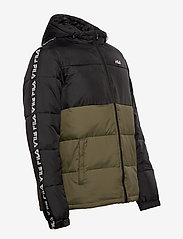 FILA - MEN TANNER tape puffer jacket - veste sport - grape leaf-black - 3