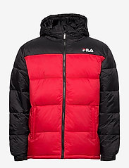 FILA - SCOOTER puffer jacket - veste sport - black-true red - 1