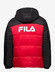 FILA - SCOOTER puffer jacket - veste sport - black-true red - 2