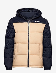 FILA - SCOOTER puffer jacket - veste sport - irish cream-black iris - 0