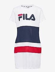 FILA - KIDS TRIXIE tee dress - kjoler - bright white-black iris-true red - 0