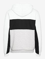 FILA - MEN ANALU blocked hoody - pulls a capuche - light grey melange bros-bright white-black - 1