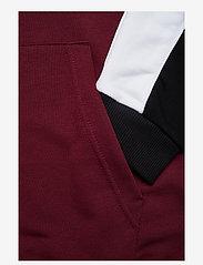 FILA - MEN ANALU blocked hoody - pulls a capuche - chocolate truffle-black-bright white - 2