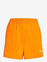 WOMEN ALLETE high waist shorts - FLAME ORANGE-BRIGHT WHITE