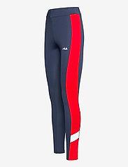 FILA - WOMEN ALYA blocked tights - collants d'entraînement - black iris-true red-bright white - 2