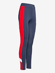 FILA - WOMEN ALYA blocked tights - collants d'entraînement - black iris-true red-bright white - 3