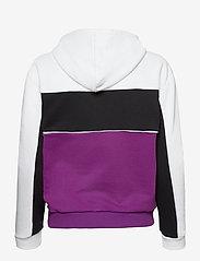 FILA - WOMEN AQILA blocked hoody - pulls à capuche - sparkling grape-bright white-black - 1