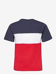 FILA - WOMEN ANOKIA blocked tee - t-shirts - true red-black iris-bright white - 1