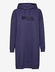 FILA - WOMEN FELICE oversized hoody dress - robes de jour - crown blue - 0