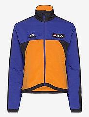 FILA - WOMEN CALANTHE sweat jacket - sweats et sweats à capuche - clematis blue-flame orange-black - 0