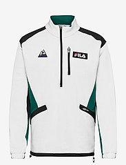 FILA - MEN CLEM half-zip sweat shirt - sweats - blanc de blanc-black-storm - 0