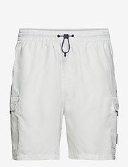 FILA - MEN COLM woven shorts - short décontracté - blanc de blanc - 0