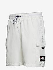 FILA - MEN COLM woven shorts - short décontracté - blanc de blanc - 2
