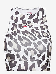 FILA - WOMEN ELITA AOP top - crop tops - bold leo allover - 0