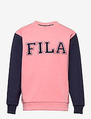 FILA - KIDS GIRLS THEA crew neck - sweatshirts - conch shell-black iris - 0