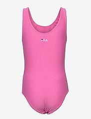 FILA - KIDS GIRLS DINA swimsuit - swimsuits - super pink - 1