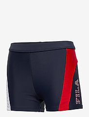 FILA - KIDS BOYS HANK retro beach pants - bademode - black iris-true red-bright white - 2