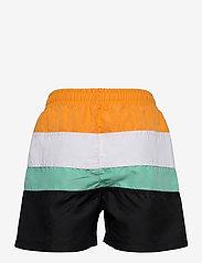 FILA - TEENS BOYS BELA blocked swim shorts - bademode - black-flame orange-bright white-biscay green - 1
