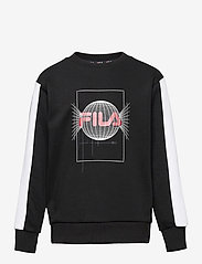 FILA - TEENS BOYS ALEC crew sweat - sweatshirts - black-bright white - 0
