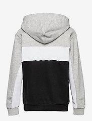 FILA - TEENS BOYS LEVI basic blocked hoody - kapuzenpullover - black-light grey mel.-bright white - 1