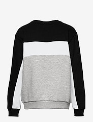 FILA - TEENS BOYS PEPE blocked crew - sweatshirts - light grey melange bros-black-bright white - 1