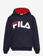FILA - TEENS UNISEX ANDREY classic logo hoody - hoodies - black iris - 0