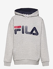 FILA - TEENS UNISEX ANDREY classic logo hoody - kapuzenpullover - light grey melange bros - 0