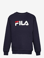 FILA - TEENS UNISEX VIOLO logo crew sweat - sweatshirts - black iris - 0
