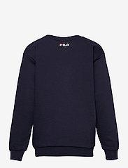 FILA - TEENS UNISEX VIOLO logo crew sweat - sweatshirts - black iris - 1