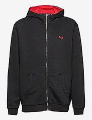 FILA - TEENS UNISEX NIKITA hooded zip jacket - hoodies - black-bright white - 0