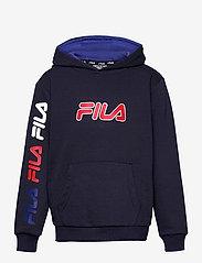 FILA - TEENS BOYS VITOR hoody - hoodies - black iris - 0